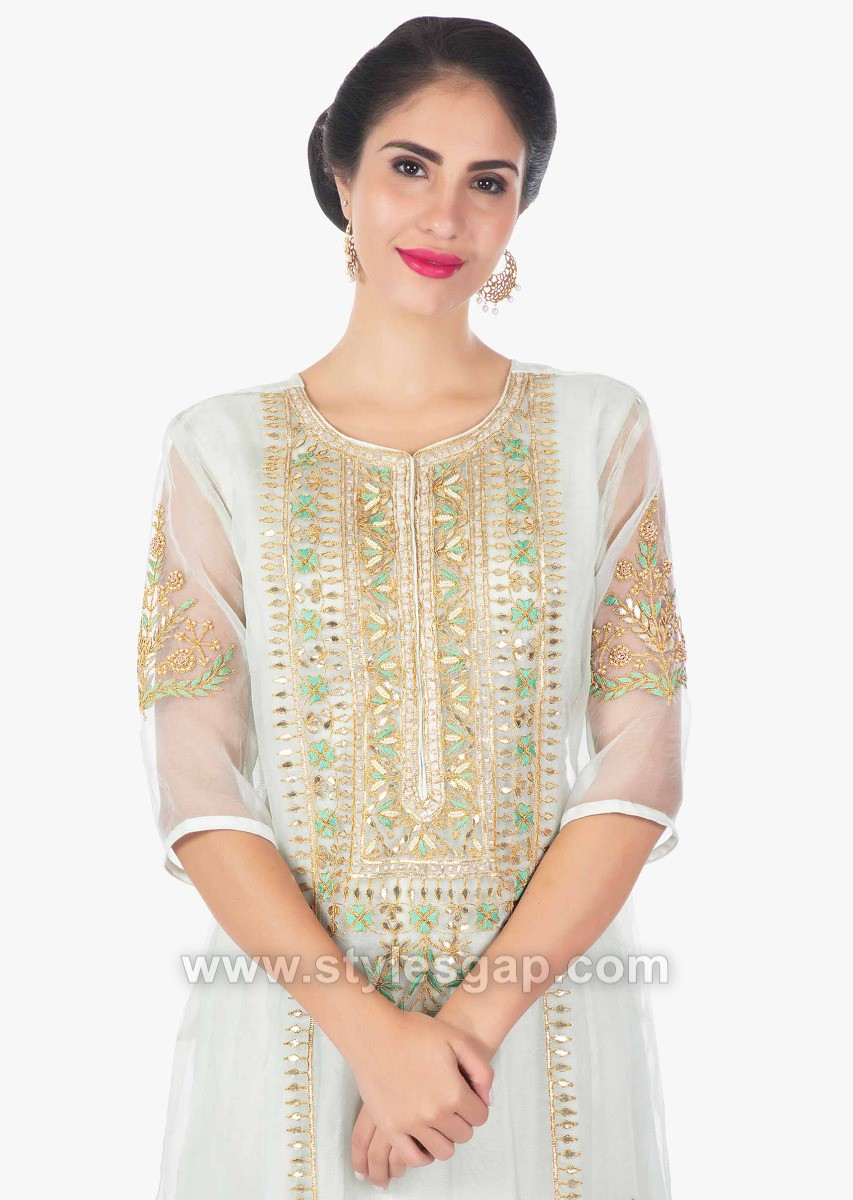 Latest Indian Neckline Gala Designs for Formal Dresses
