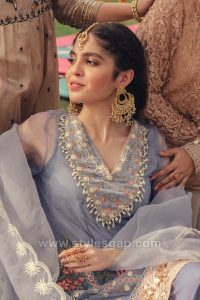 fancy embellished necklines