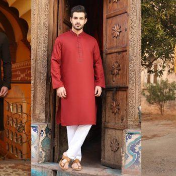 Latest J. Eid Kurta Shalwar Kameez Designs Waistcoat Collection 2021