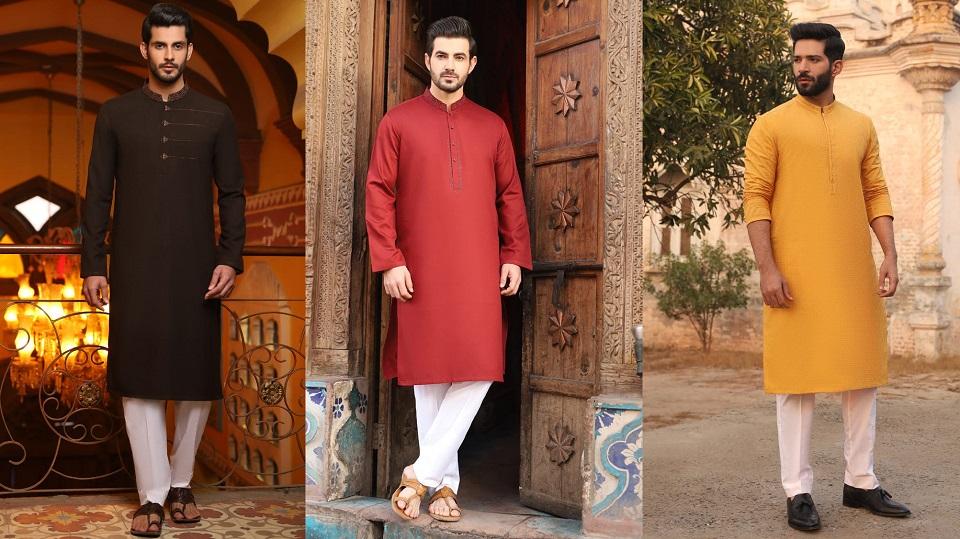 Latest J. Eid Kurta Shalwar Kameez Designs Waistcoat Collection