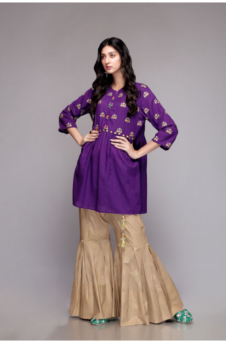 Latest Colorful Kurti Peplum Dresses