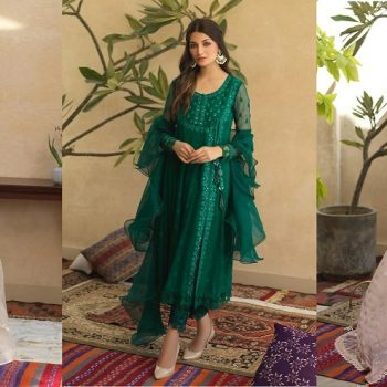 Sana Abbas Beautiful Formal Eid Dresses Designs Collection 2021