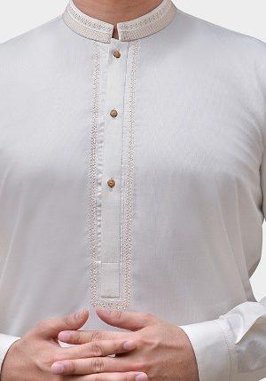 Cotton & Silk Embroidered Kurtas Shalwar Kameez Collection for Men