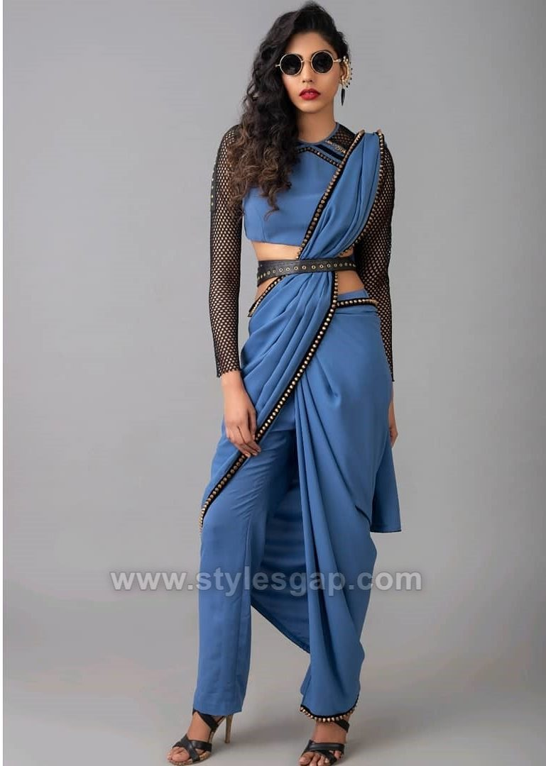 Latest Pant Saree Designs & Trends