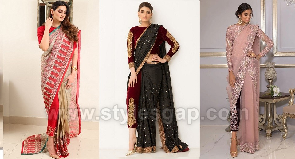 Latest Pant Saree Designs & Trends Collection with 30+ Styles