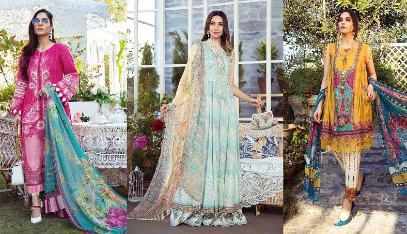 M Prints Maria B Printed Embroidered Lawn Collection 2021