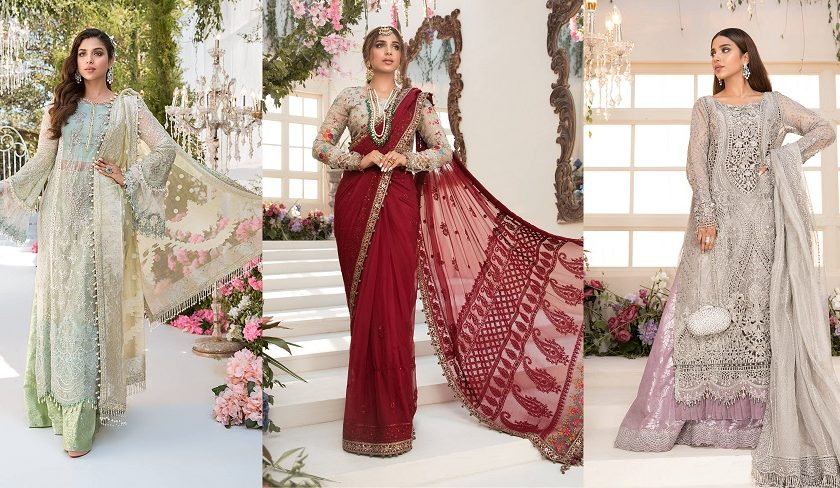 Best Eid Women Dresses Maria B Mbroidered Eid Collection