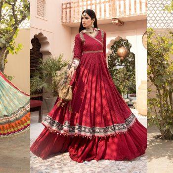 Latest Maria B Eid Lawn Dresses Designs Collection 2021-2022