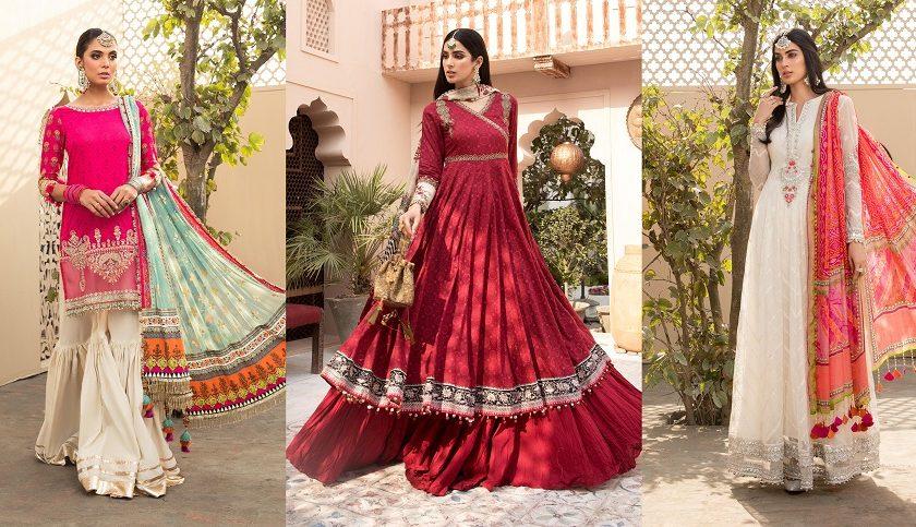 Latest Maria B Eid Lawn Dresses Designs Collection
