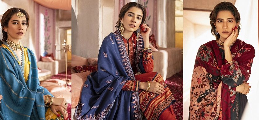 Cross Stitch Winter Printed Embroidered Dresses Collection 2020-21