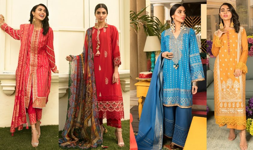 Khaadi Latest Summer Lawn Dresses Designs Collection 2021