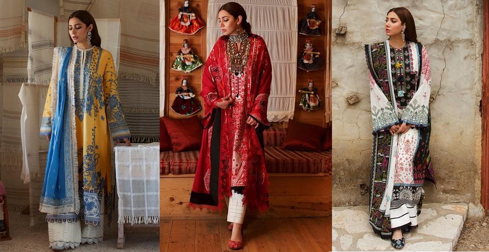Elan Lawn Spring Summer Collection 2021- Luxury Designer Lawn Suits