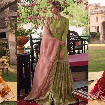 Latest Formal Wedding Bridal Sharara Designs 2021 Collection