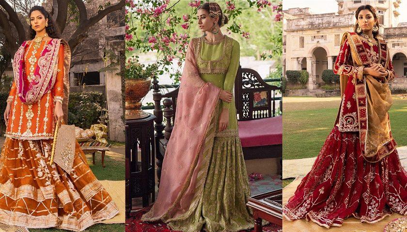Latest Wedding Bridal Sharara Designs